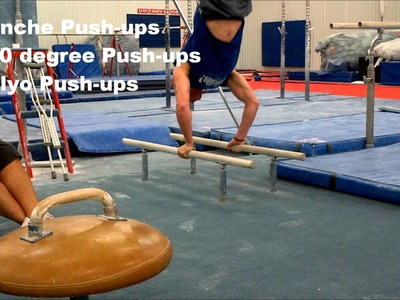 Planche, 90 Degree, and Plyo Push-up Set (with warm-up)