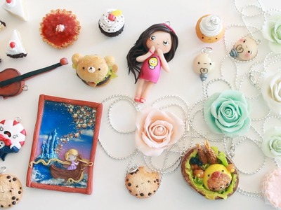 Polymer Clay Charm Update #9 - Cookies, Food, Roses & More!