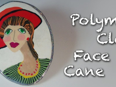 Polymer Clay Tutorial - How to make a face cane cabochon