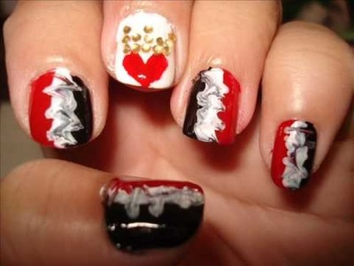 QueenOfHearts - entry to dollface22772's nail art contest