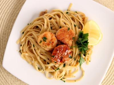 Scallop Scampi over Linguine Recipe - Laura Vitale - Laura in the Kitchen Episode 534