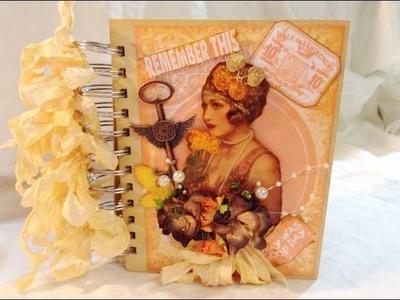 Shabby Vintage Mini Album.Journal DT Project & Tutorial
