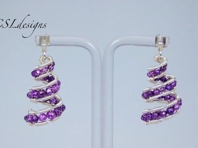 Spiral wirework earrings | Christmas