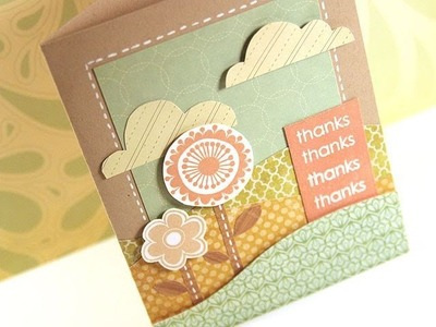 Thanks (Flower Scene) - Make a Card Monday #147