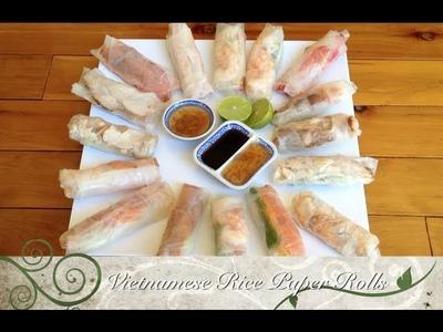 Vietnamese Rice Paper Rolls Easy Video Recipe