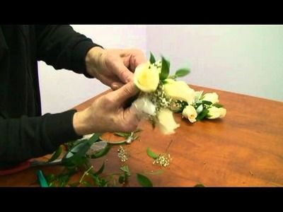 Wedding Flower Tutorial: How to make a white rose corsage and boutonniere