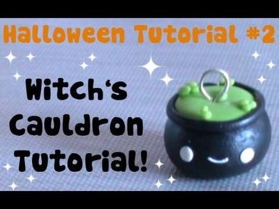 Witch's Cauldron ● Halloween Polymer Clay Tutorial