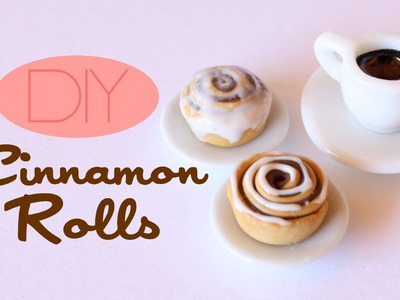 Cinnamon Rolls - Polymer Clay Pastry Tutorial