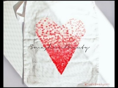 D.I.Y Ombre Heart Summer Beach Bag Tutorial (fashionable bag) 3D Howto