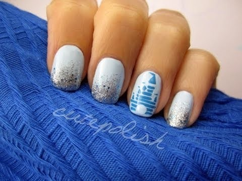 Disney Magic Kingdom Nail Art