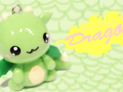 ◕‿◕Dragon! Kawaii Friday 90 - Tutorial in Polymer clay!