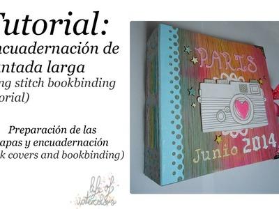 Encuadernación de puntada larga (long stitch binding)