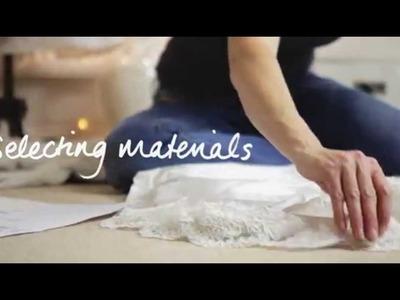 How a wedding dress is made by Caroline Arthur