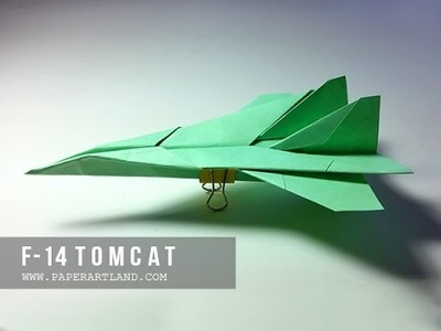 How to Make a Cool Paper plane that flies | F -14 Tomcat