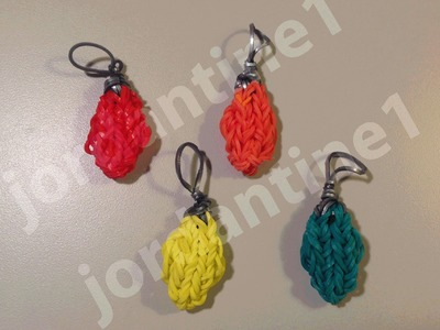 How To Make A Rainbow Loom Holiday Christmas Light Bulb Charm