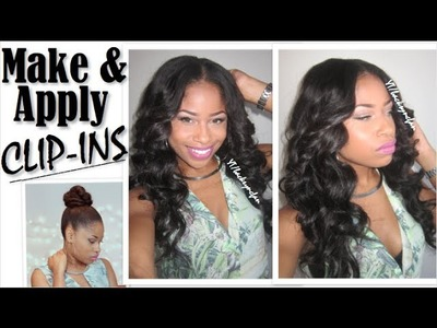 HOW TO: Make & Apply CLIP-INS (Full Head Install) - Valencia Rose Hair