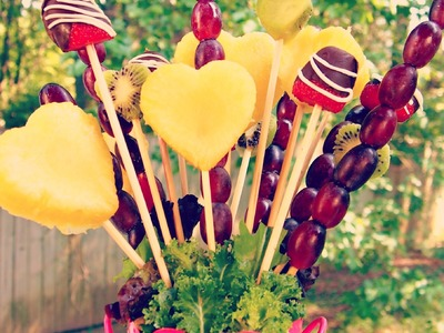How to Make an Edible Fruit Bouquet.Arrangement
