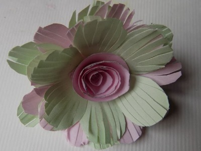 How to make paper flowers at home step by step easy with colour maplitho