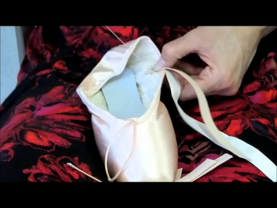 How to sew ribbon and elastic on your pointe shoes