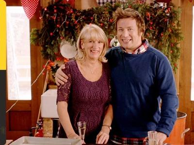 Jamie Oliver's Ham hock and clementine salad featuring Jamie's mum