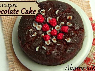 Miniature Chocolate Cake with raspberries - Polymer clay tutorial