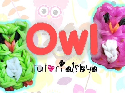 Owl Charm. Mini Figurine Rainbow Loom Tutorial