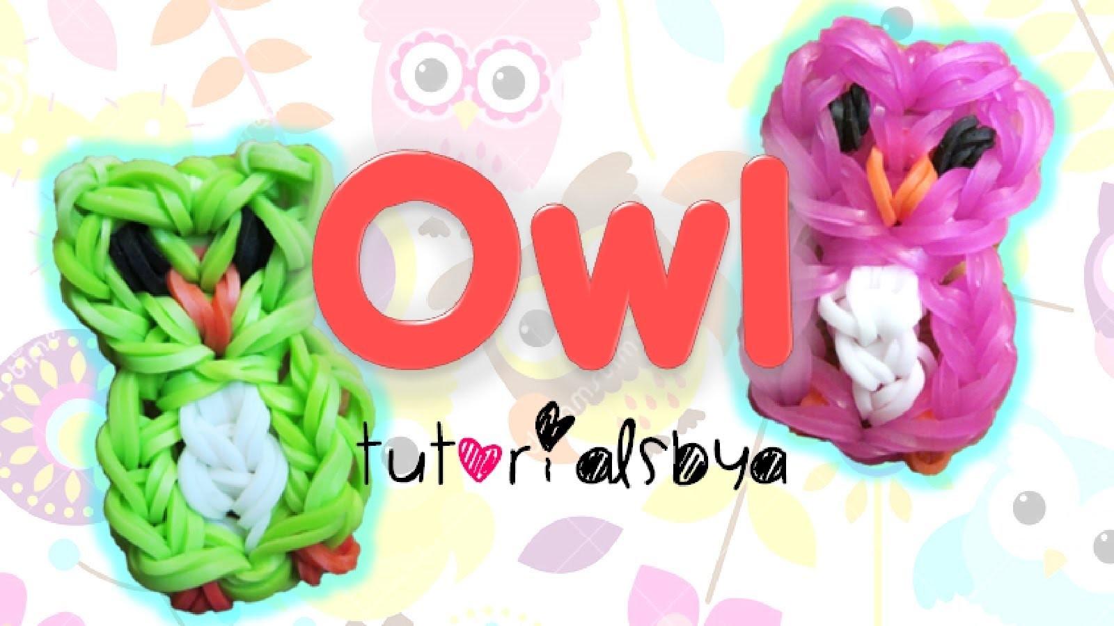 Owl Charm. Mini Figurine Rainbow Loom Tutorial