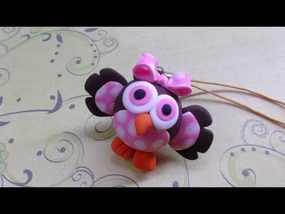 Polymer clay.Fimo tutorial- Baby Owl. Corujinha