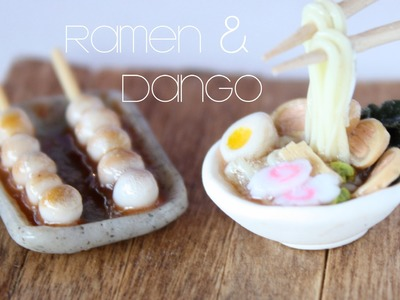Ramen & Dango - Miniature Clay Bowl & Chopsticks Tutorial