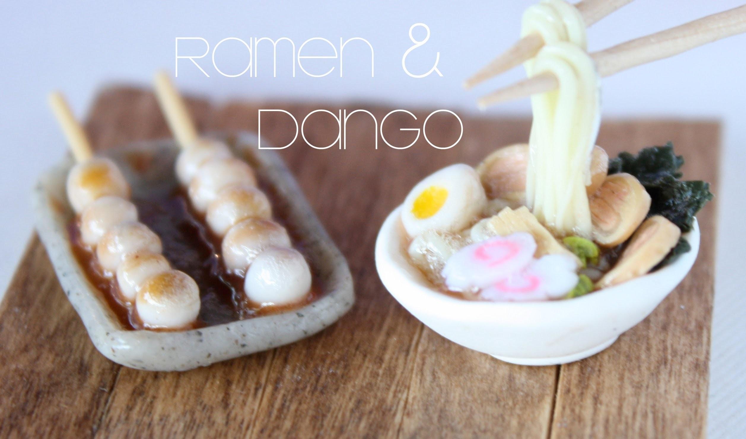 Ramen & Dango - Miniature Clay Bowl & Chopsticks Tutorial