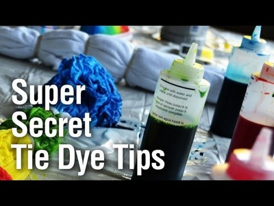 Super Secret Tie Dye Technique