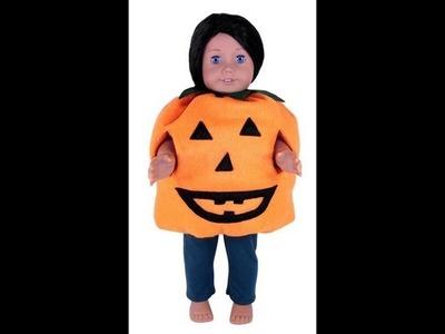American Girl Doll Clothes Patterns Halloween Pumpkin