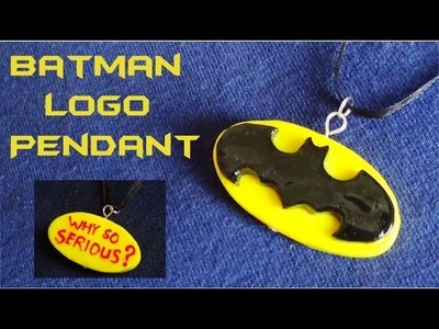 Batman Logo Pendant! - Polymer Clay Tutorial