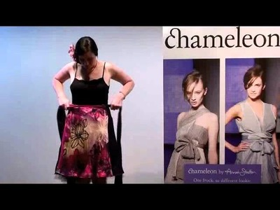 Chameleon.Flipit wrap dresses by Annah Stretton. How to wear.  Skirt