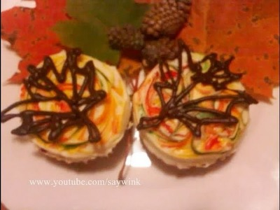 Cupcake Decorating Tutorial: Fall Maple Leaves