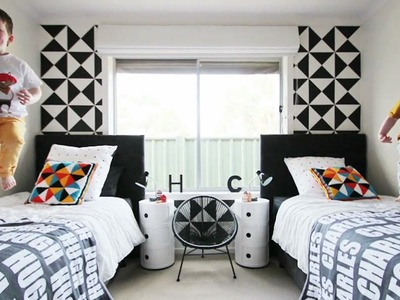Design Trend Alert - Black & White in Boys' Room Decor