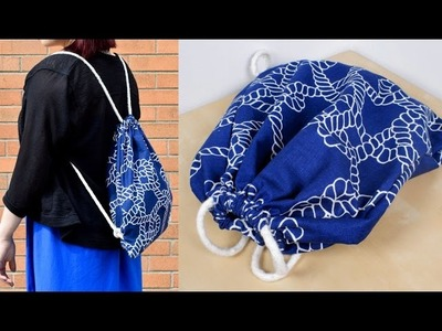 DIY Backpack Drawstring Bag Tutorial