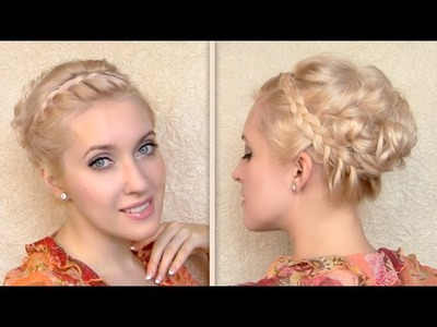 Greek goddess hair tutorial Updo hairstyle for shoulder length medium long hair