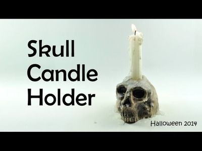 Halloween: Skull Candle Holder - polymer clay TUTORIAL