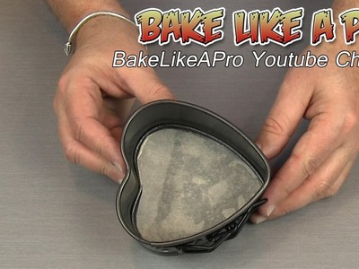 How To Line A Heart Shaped Baking Pan With Parchment Paper
