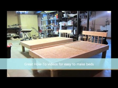How to Make a Bed - Easy to Build Kids Twin Bed