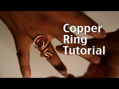 How to make a copper swirl ring.