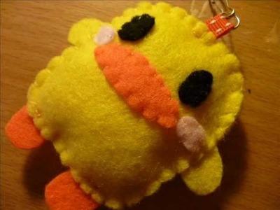How to Make a Kawaii Piyo Chan (Duck) Plush Keyring from Felt!
