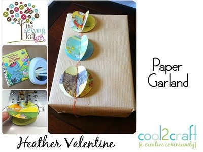 How to Make an Eco Paper Garland From Children's Books by Heather Valentine