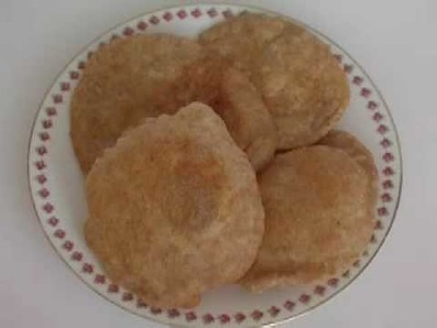 How to Make Fresh Indian Poori.Puri