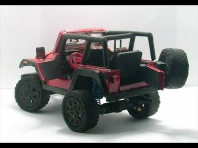 Look its paper!!: Jeep wrangler replica  from cardboard