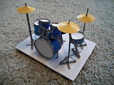 Paper Model of a Drum Set