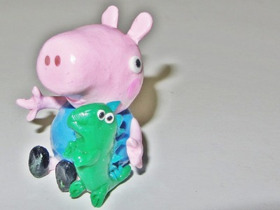 Polymer Clay Tutorial Peppa Pig Mr. Dinosaur Charm