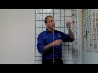 Posture Chart installation with Plumb Bob