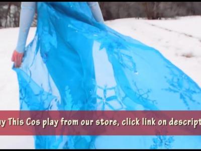 Princess Cosplay Costume Frozen Elsa Dress